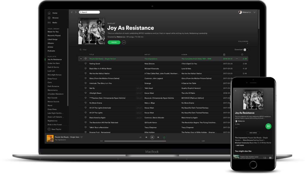 spotify playlist joy as resistance